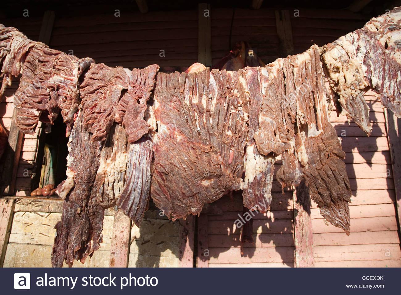 Carni di asciugare,otra banda,hispaniola,Repubblica dominicana,dei Caraibi Immagini Stock