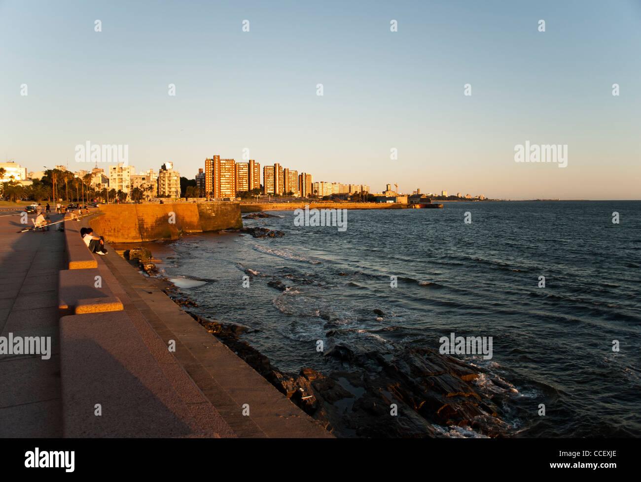 Città di Montevideo, Uruguay Immagini Stock