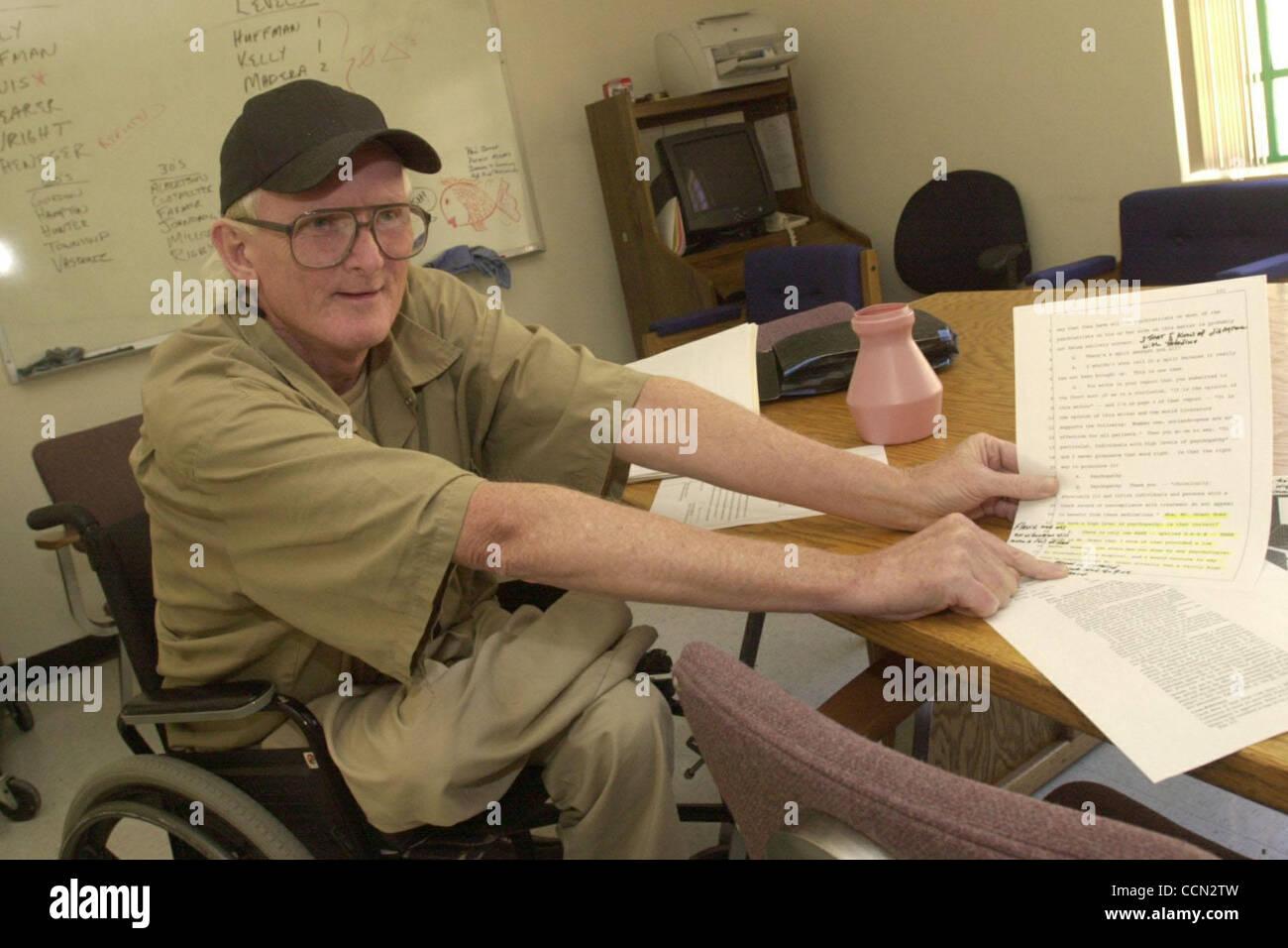 Greg concedere 58, di Santa Cruz, California, parla il motivo per cui egli non è iscritto al sessualmente predatori Immagini Stock