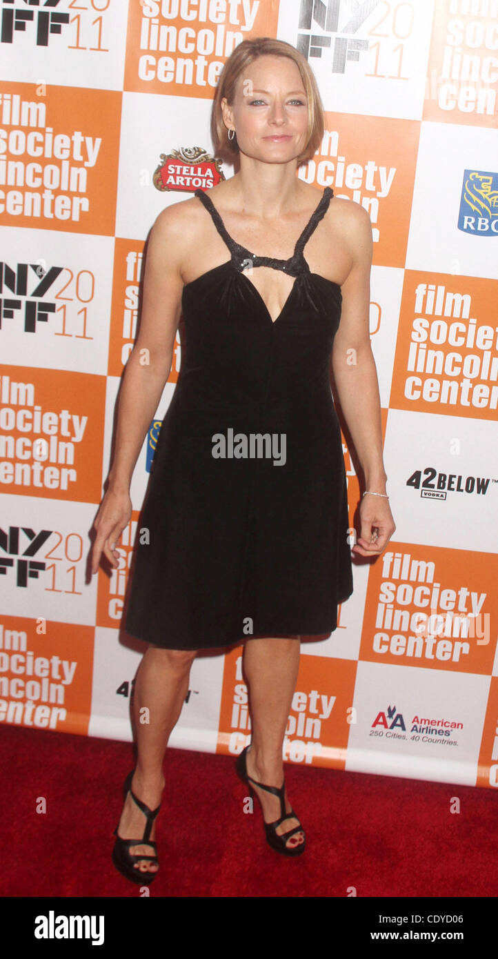 Sett. 30, 2011 - New York New York, Stati Uniti - Attrice JODIE FOSTER assiste la quarantanovesima annuale di New Foto Stock