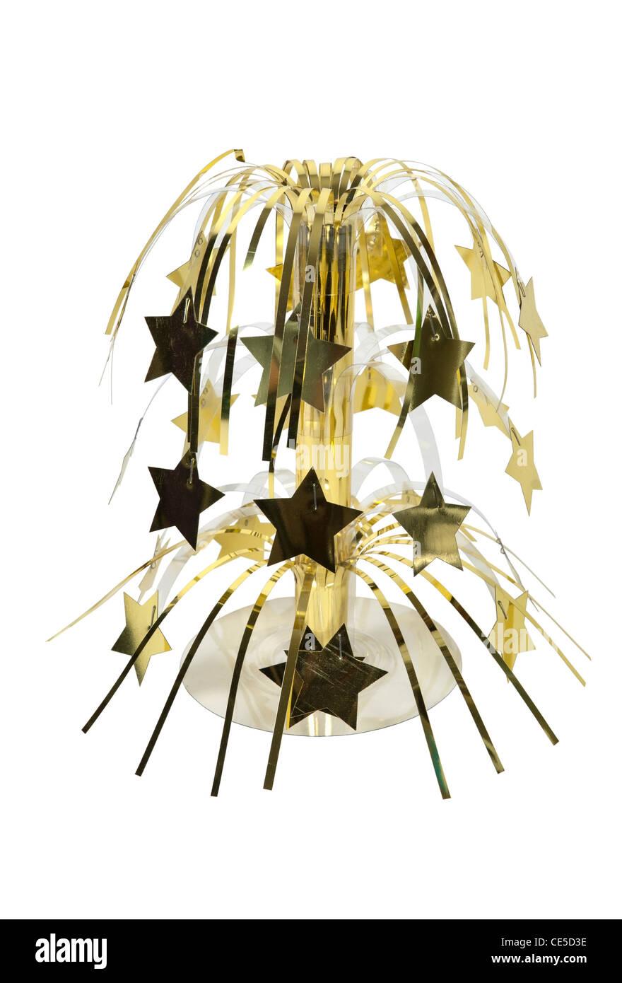 Una dispersione di piccoli decorativo lucenti stelle utilizzate per feste e celebrazioni in una cascata - percorso Immagini Stock