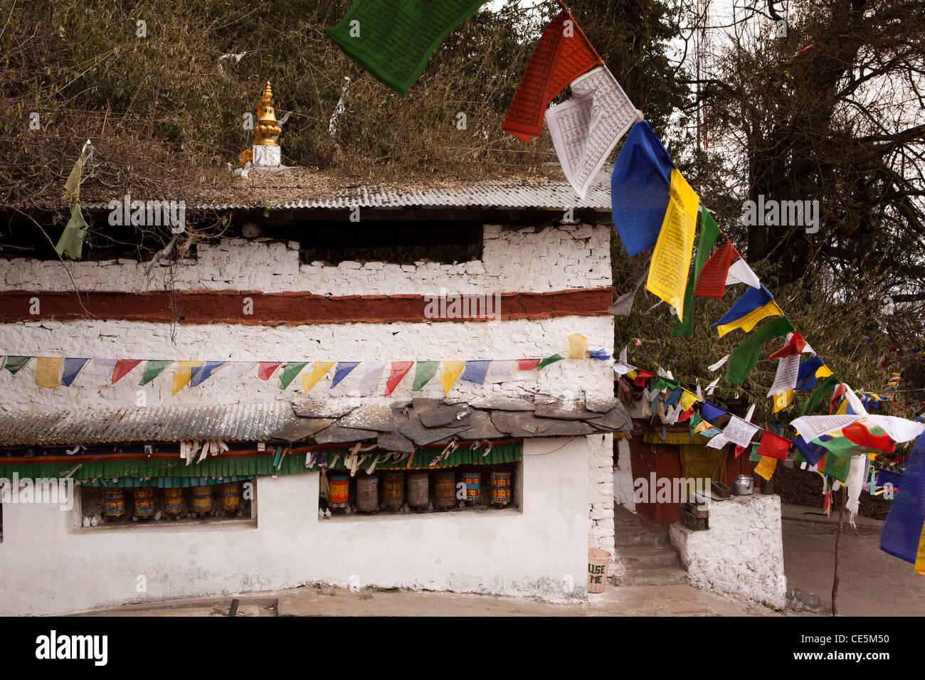 India, Arunachal Pradesh, Tawang, Thongmen Gompa, remoto e poco visitato monastero buddista Immagini Stock