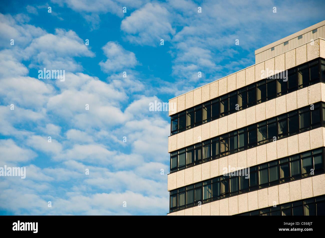 Anni sessanta architettura - Aberystwyth University campus Llandinam Edificio, Dipartimento di Scienze della Terra, Immagini Stock