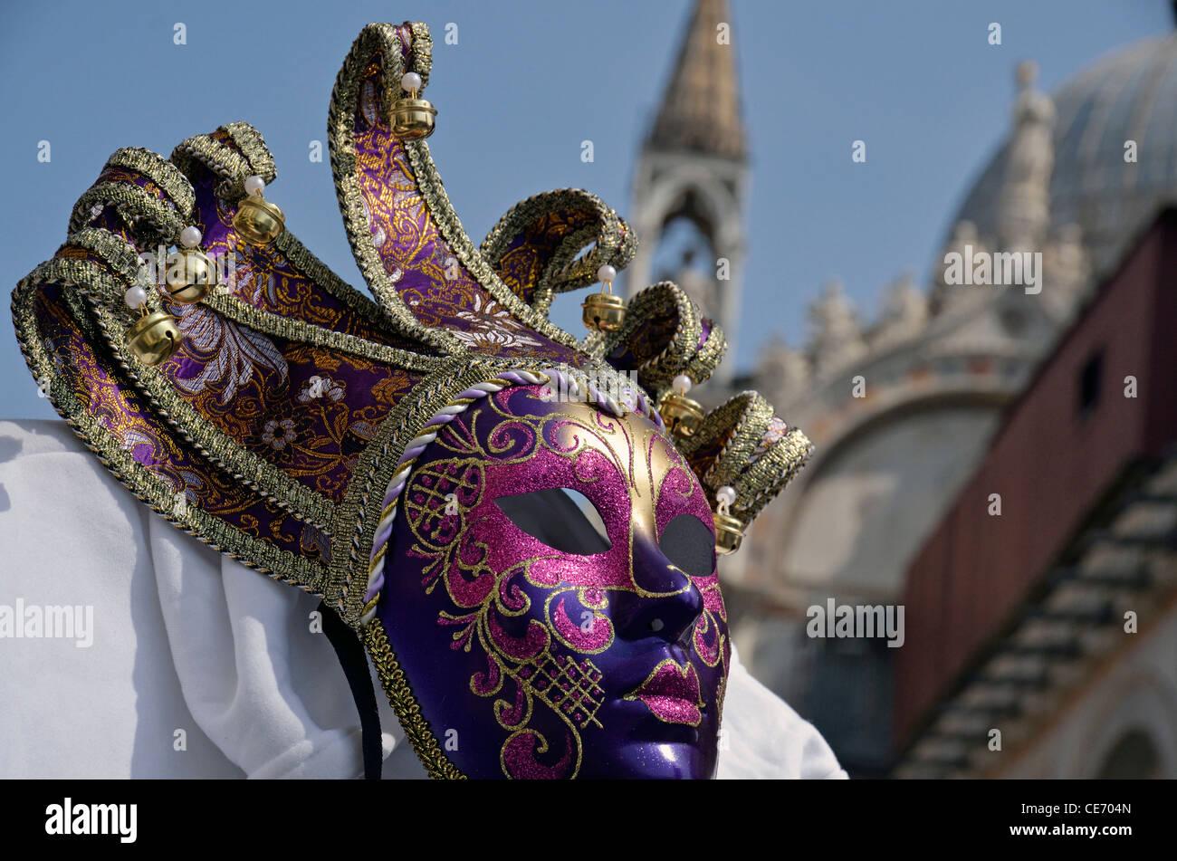 Tradizionale maschera Veneziana, Italia Immagini Stock
