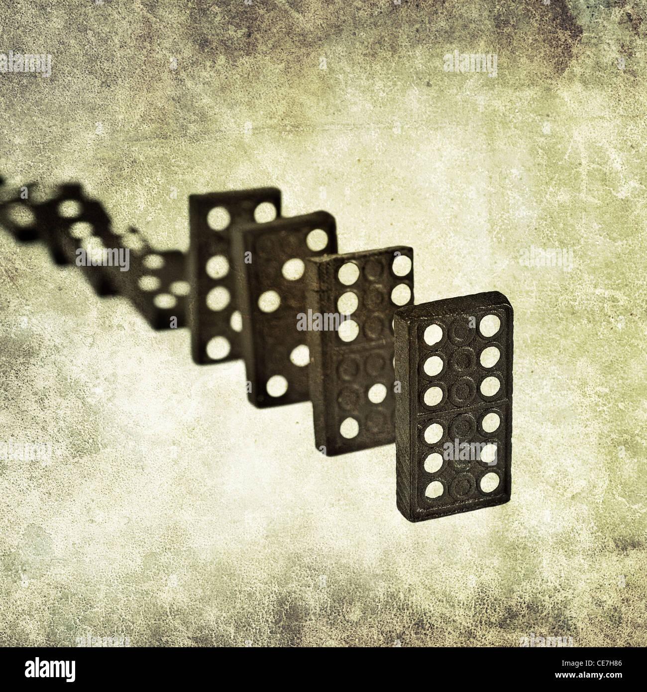 linea Domino Immagini Stock