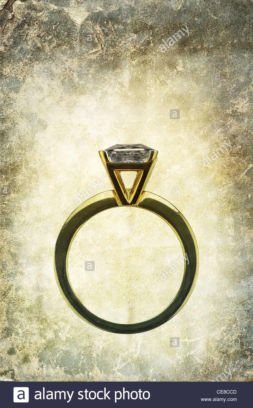 Antico anello di nozze Immagini Stock