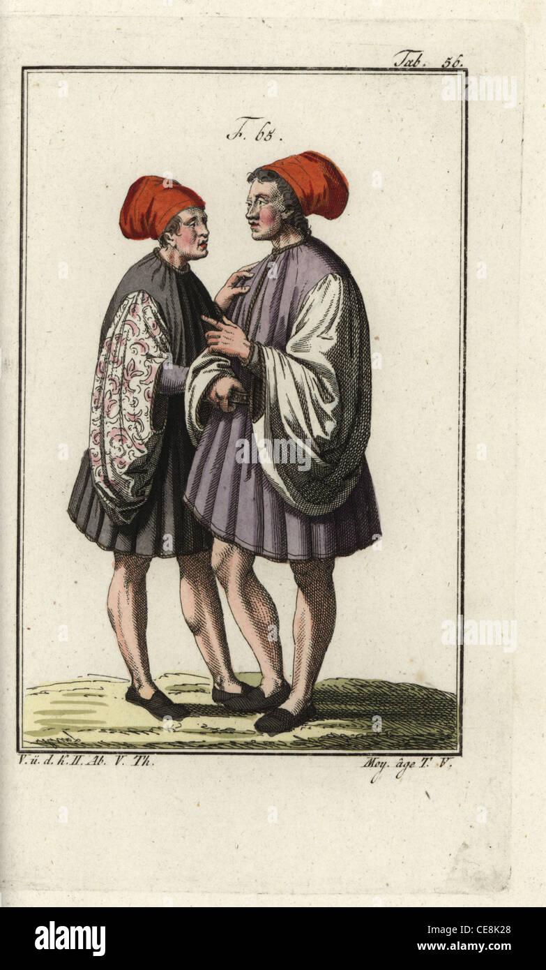 Coppia sposata di Venezia nell'alto medioevo. Immagini Stock