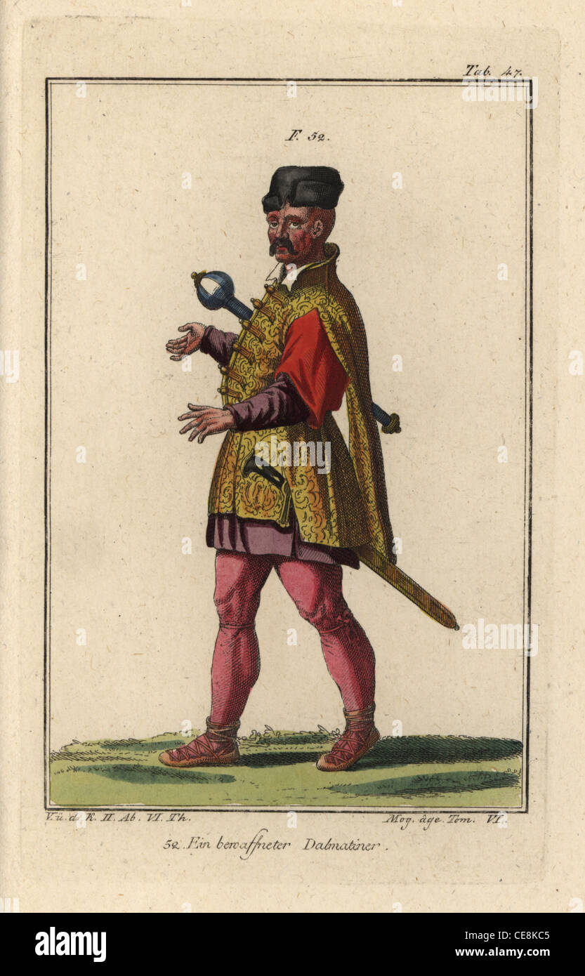 Un uomo armato della Dalmazia. Immagini Stock