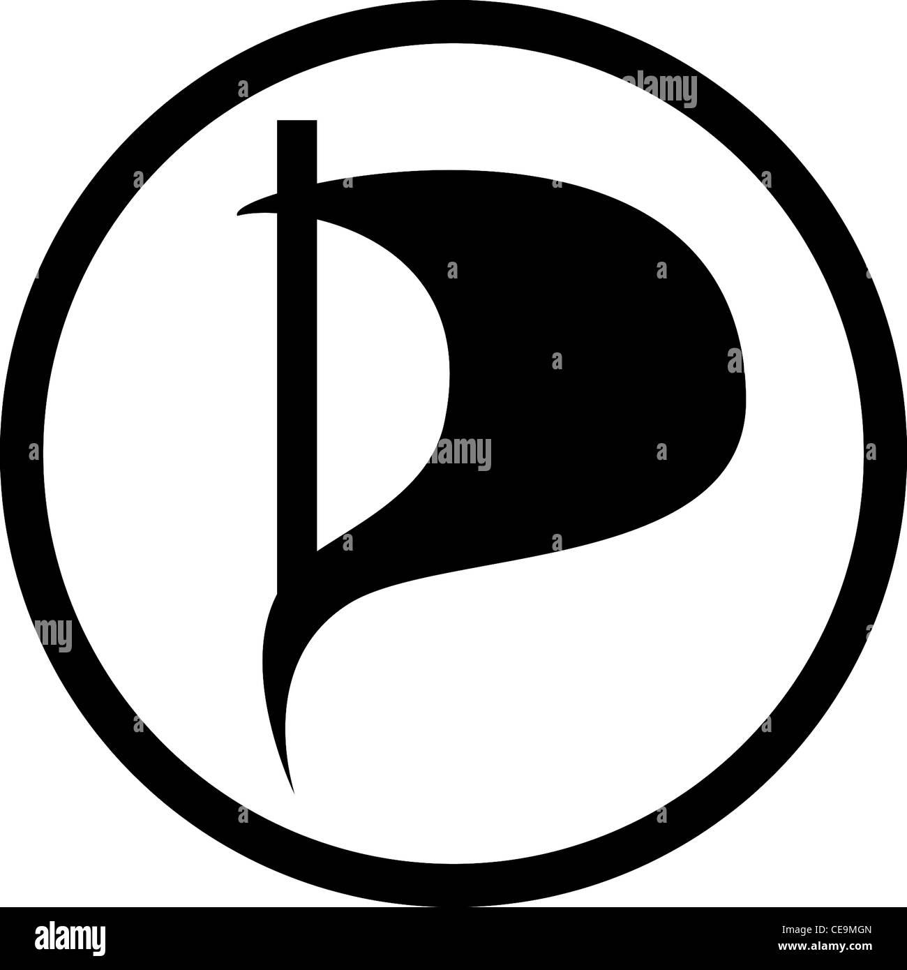 Il logo del partito del pirata di Germania PPD. Immagini Stock