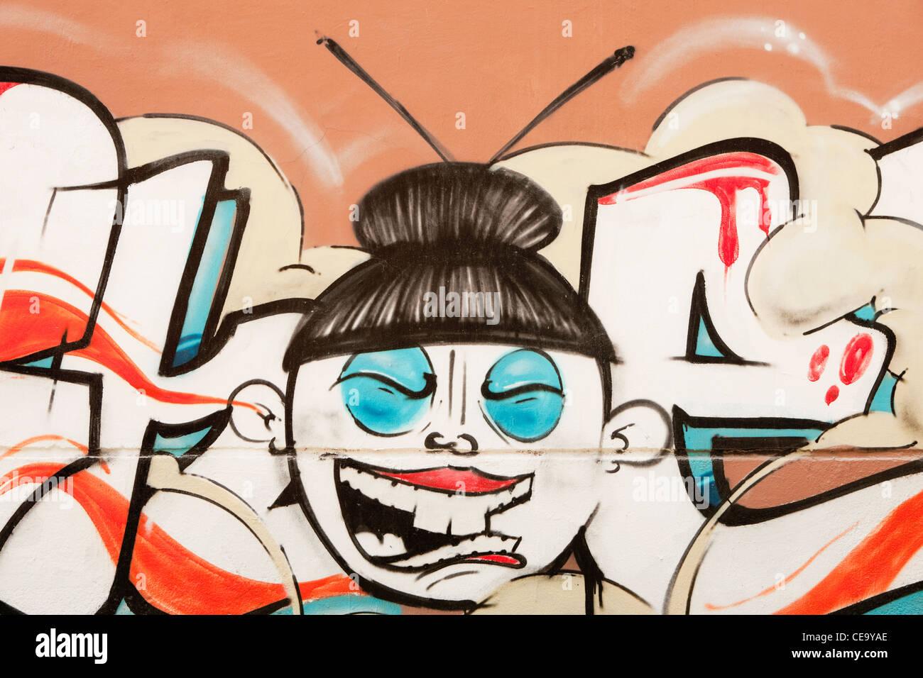 Graffiti; Shanghai; Cina Immagini Stock