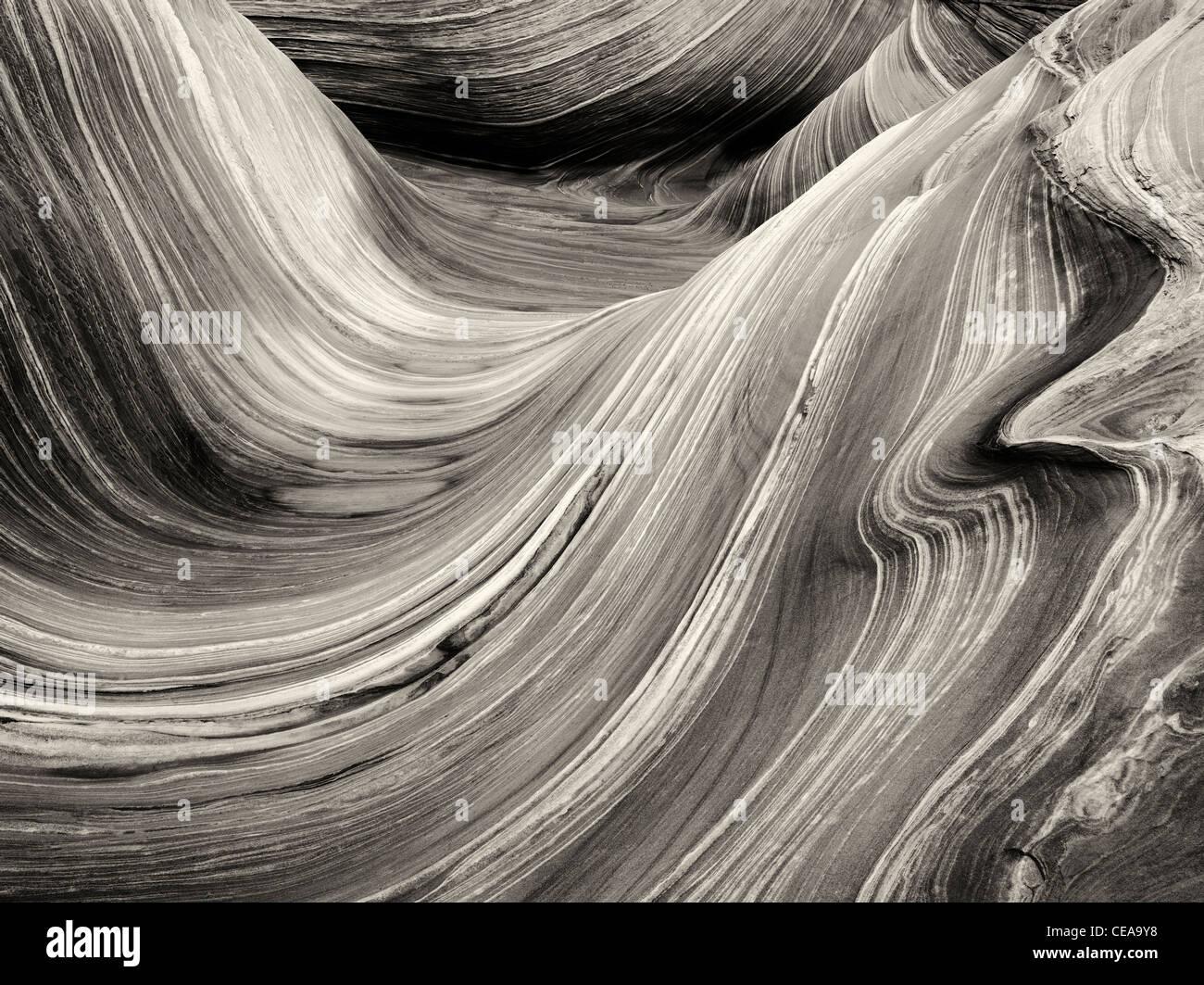 Formazione Sandtone in Nord Coyote Buttes, l'onda. Paria Canyon Vermillion Cliffs Wilderness. Utah e Arizona Immagini Stock