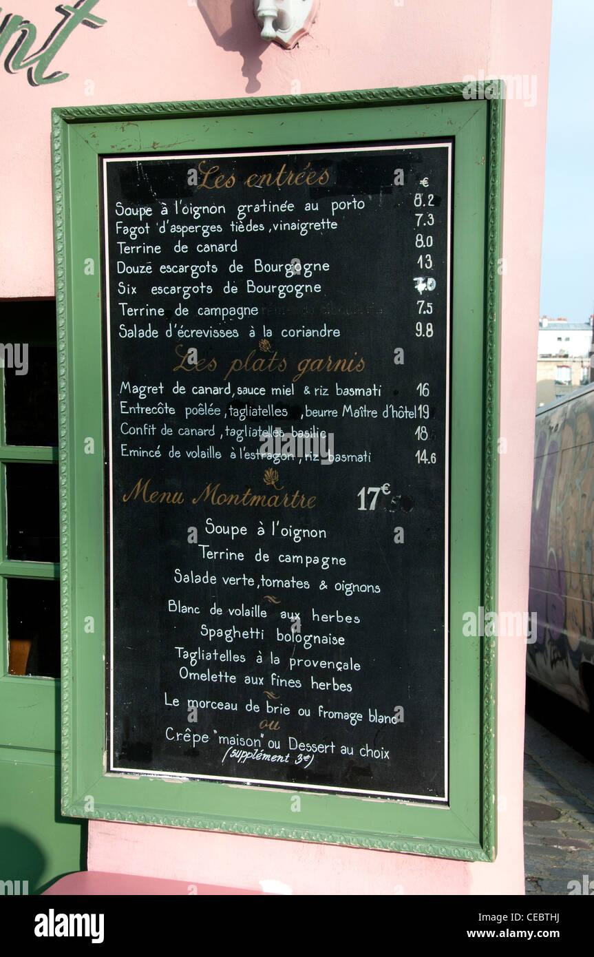Lapin Agile famoso cabaret di Montmartre 22 rue des Saules XVIII arrondissement di Pariss Francia - Francese Immagini Stock