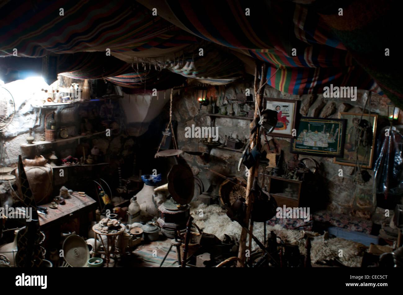 Palestina, Israele, vecchio tradizionale essenza e specie shop. Immagini Stock