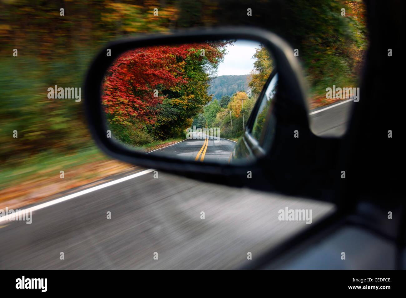 Auto specchietto retrovisore Immagini Stock