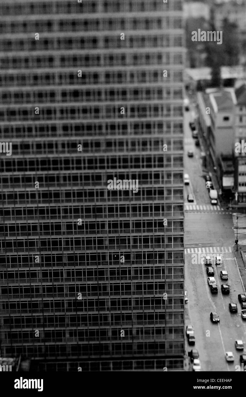 Milano, vista aerea con il grattacielo Immagini Stock