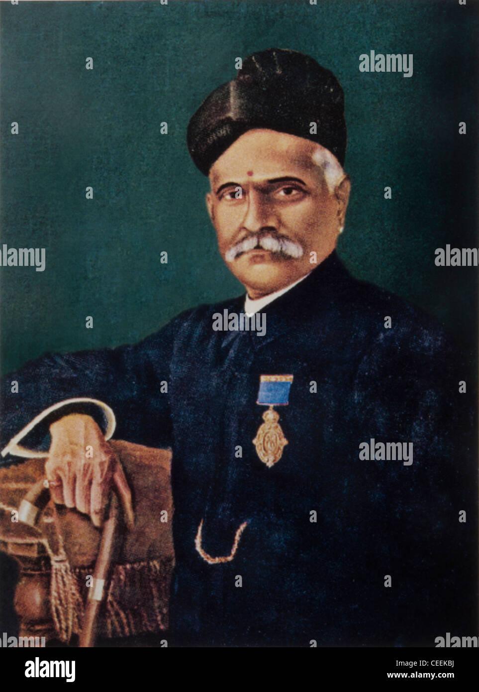 Raja Ravi Varma, il pittore indiano dal Stato principesco di Travancore che hanno ottenuto il riconoscimento da Immagini Stock