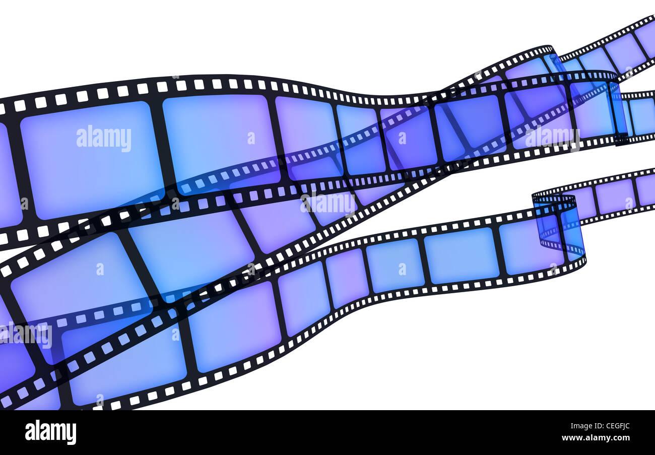 Film di sfondo blu (fatto in 3d) Immagini Stock