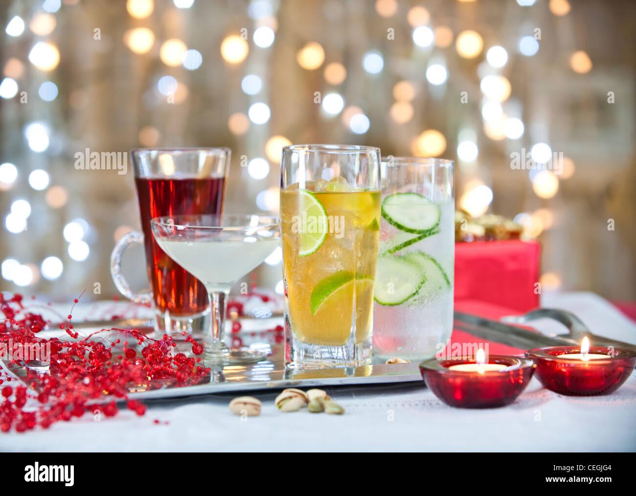 Natale cocktail bevande 2 Immagini Stock