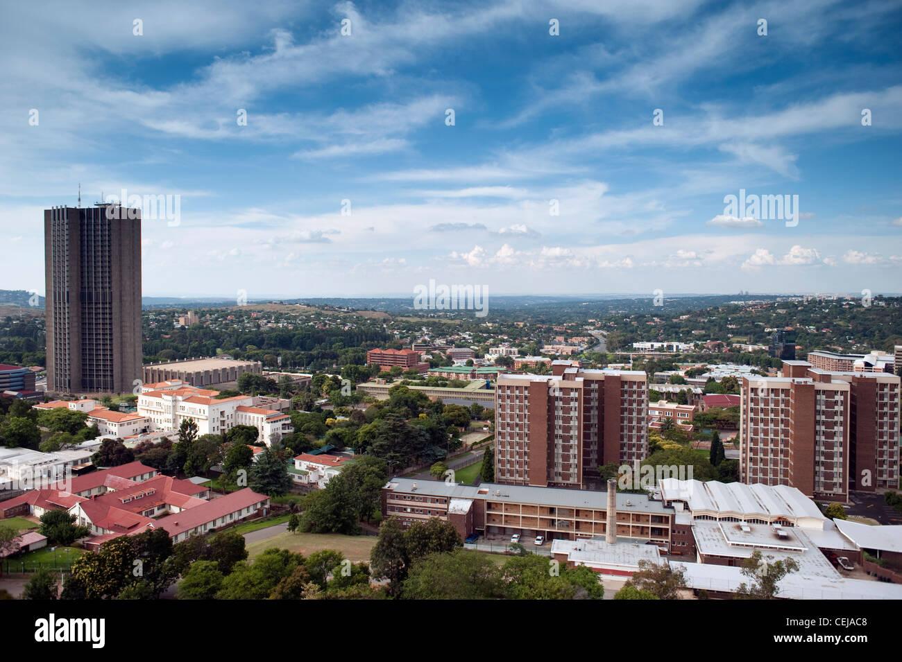 Antenna di Johannesburg,Gauteng Immagini Stock