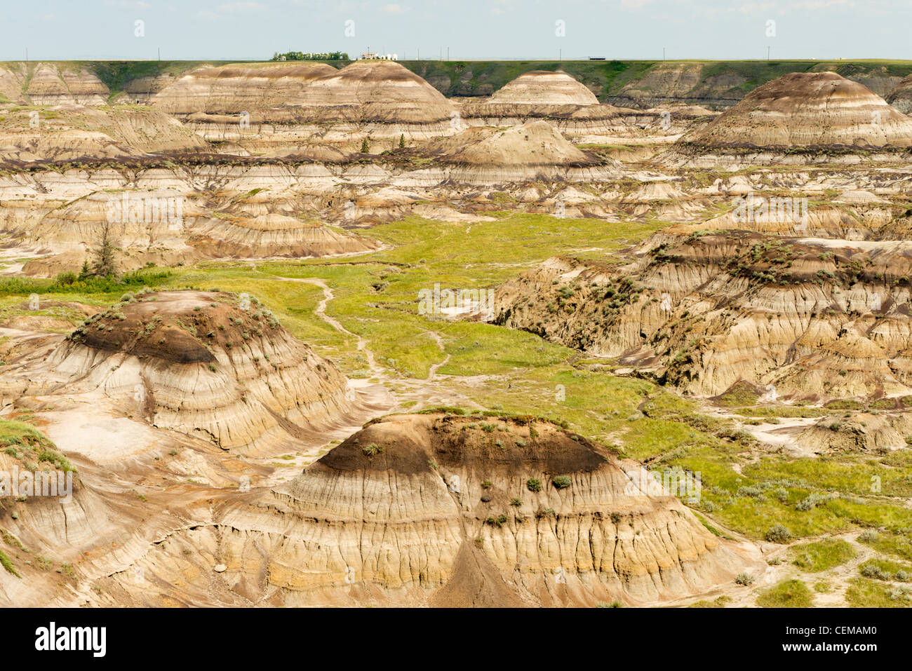 Horseshoe Canyon, in Alberta Badlands, vicino Drumheller, Alberta, Canada Immagini Stock