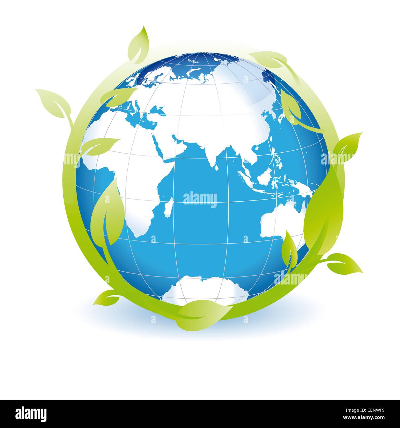 Green Globe è possibile utilizzare sul giorno di terra Immagini Stock