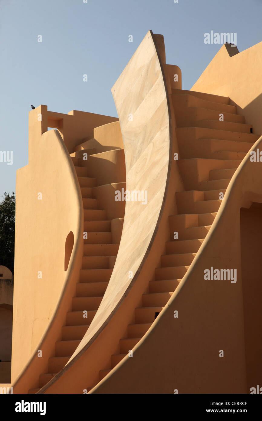 India Rajasthan, Jaipur, Jantar Mantar, osservatorio Immagini Stock