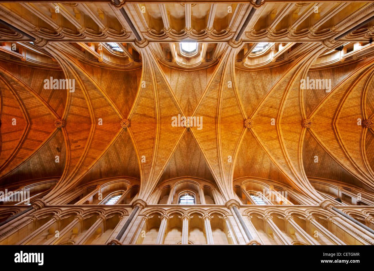 Il soffitto della Cattedrale di Southwark. William Shakespeare è creduto di essere stato presente quando John Harvard, Foto Stock