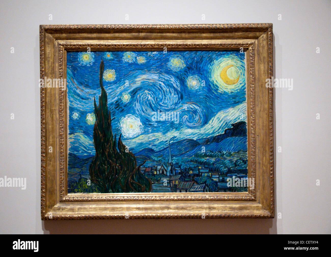 Nuit toil e notte stellata di vincent van gogh al museo for Dipinto di van gogh notte stellata