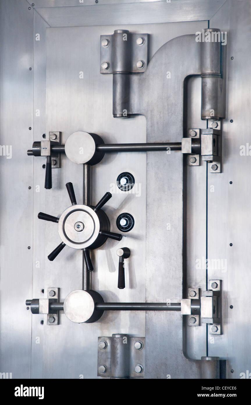 Cassaforte di sicurezza sicuro banca vault Immagini Stock