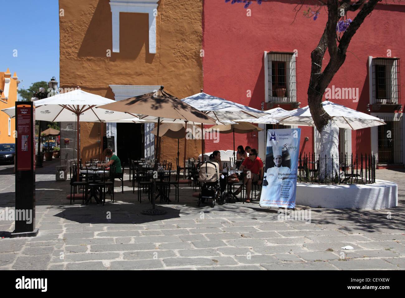 Quartiere degli artisti, Barrio del Artista, Puebla, centro storico, stato di Puebla, Messico Immagini Stock