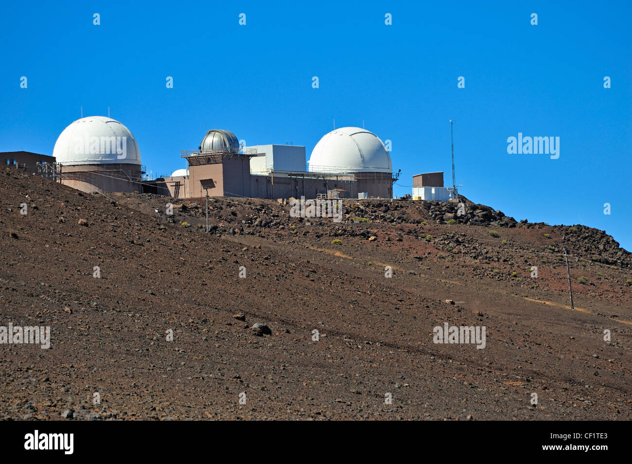 Haleakala osservatorio presso il Maui sorveglianza spaziale complessa, Haleakala National Park, Maui isola, isole Immagini Stock