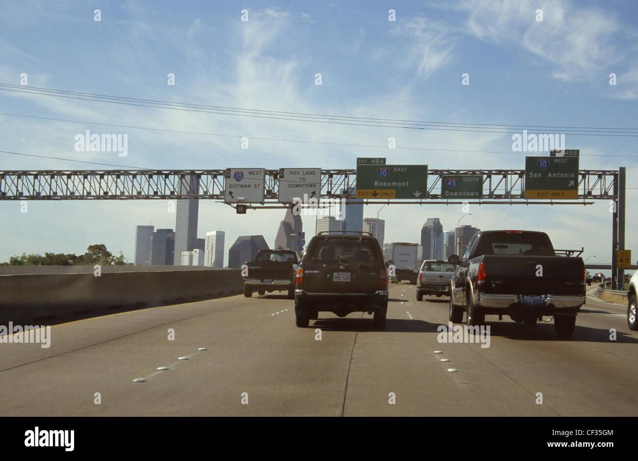 USA Houston Texas Freeway Immagini Stock