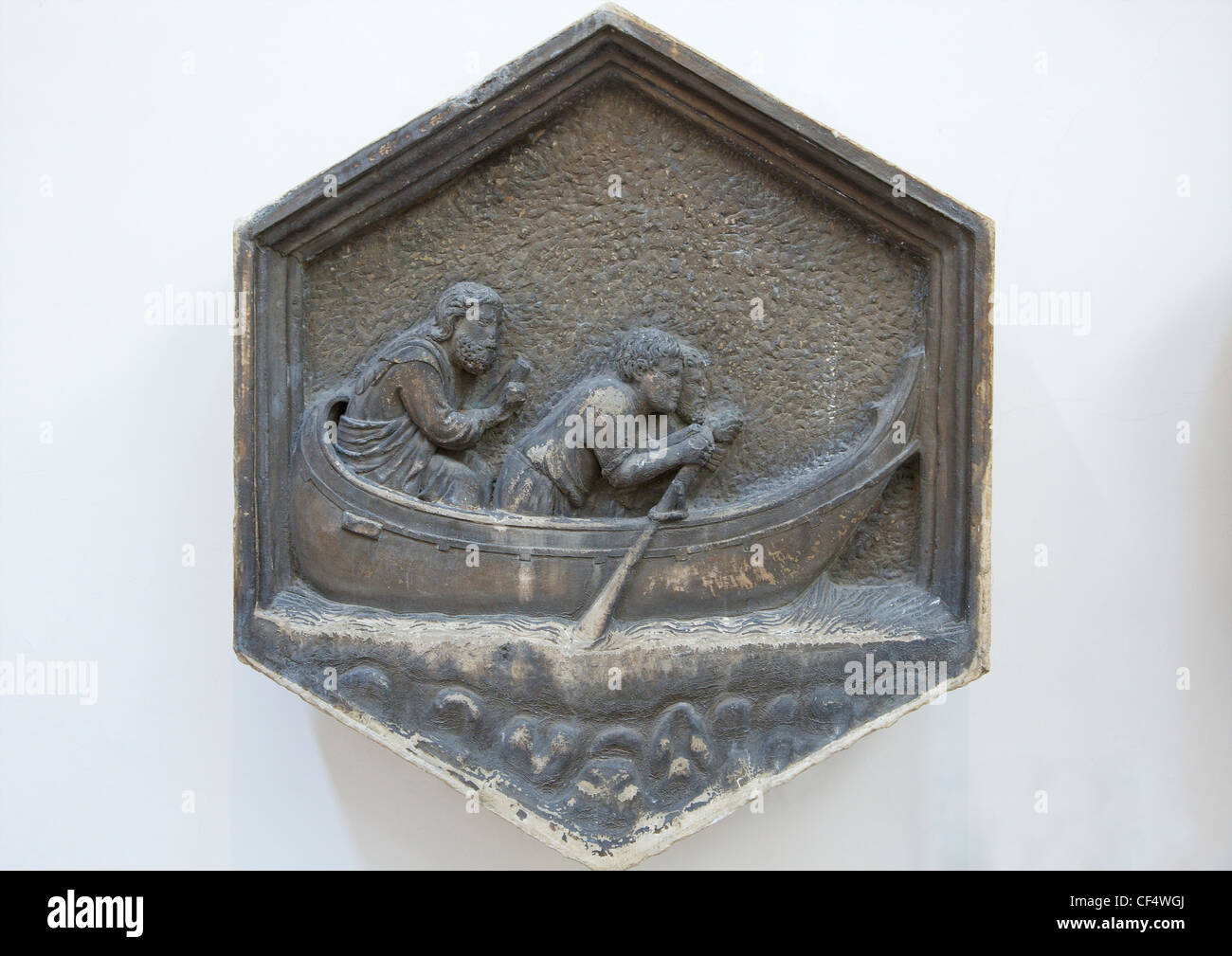Navigazione, da Andrea Pisano, originale sollievo dal Campanile, Museo dell'Opera del Duomo di Firenze, Toscana, Immagini Stock