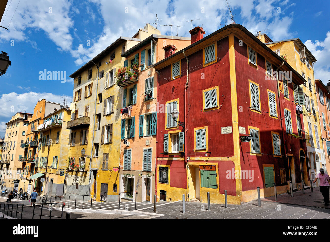 La città vecchia, Nizza cote d'Azur, in Francia. Immagini Stock