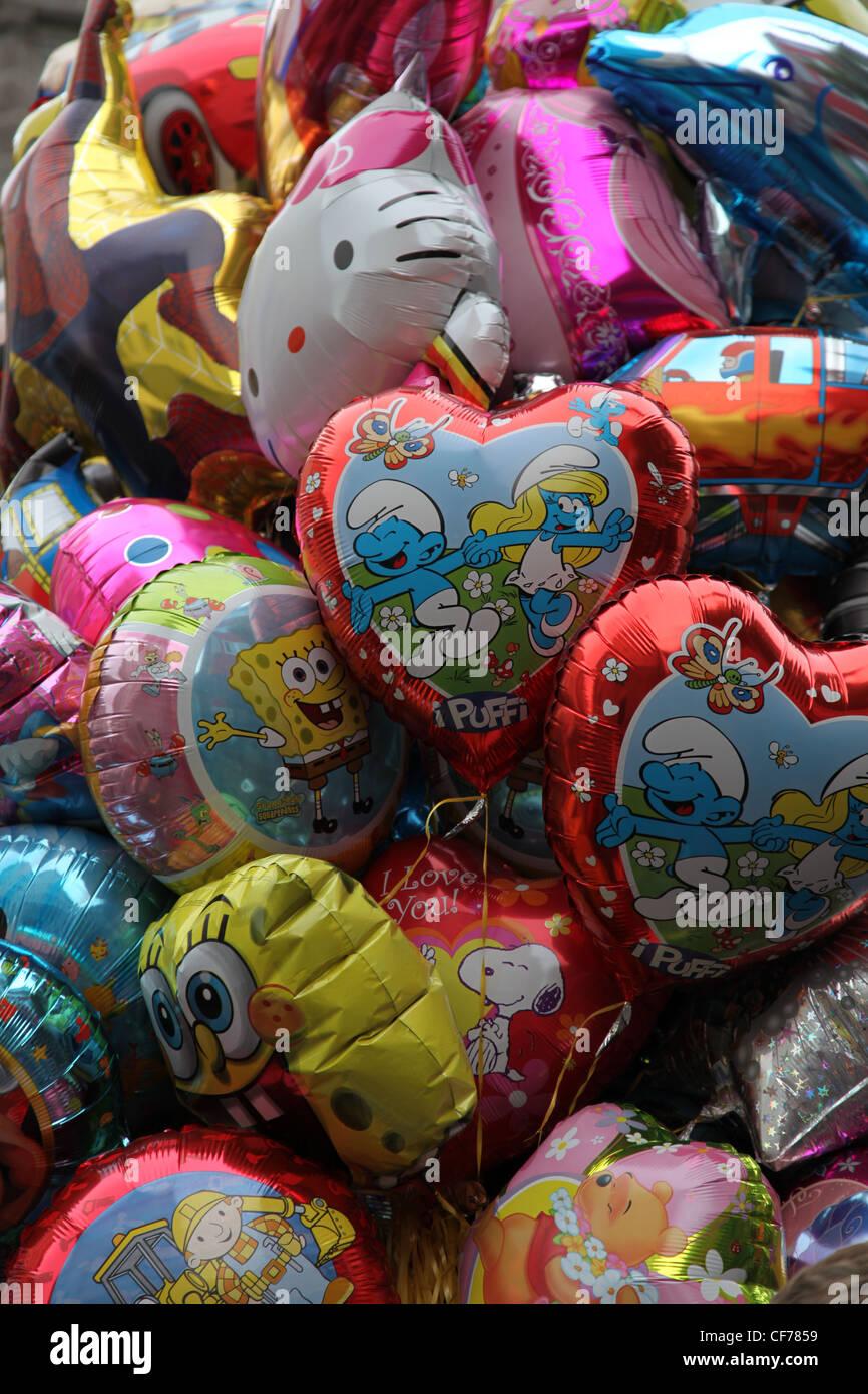 Bunte Luftballons, palloncini colorati Immagini Stock