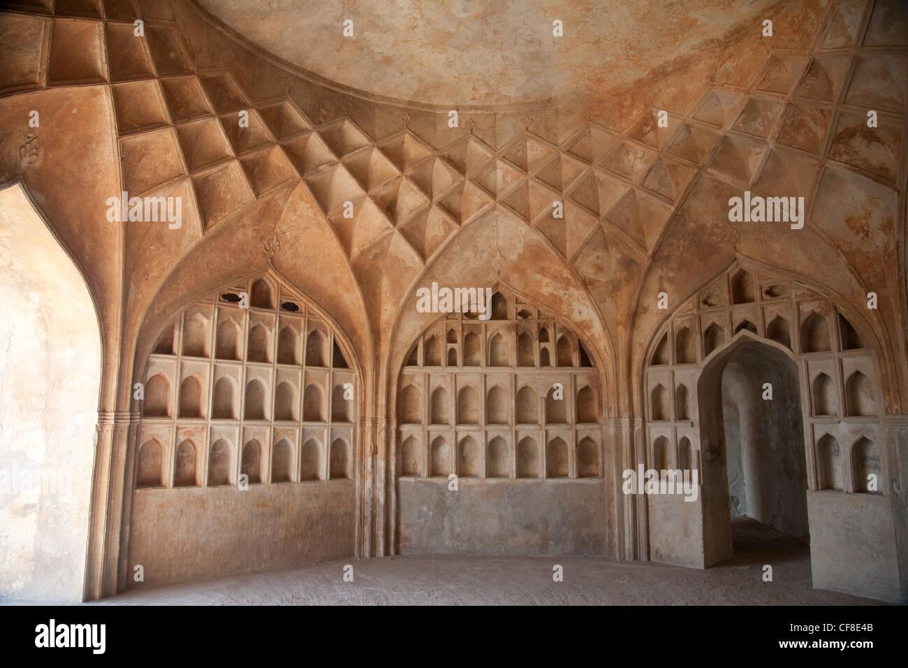 Golconda Fort in Hyderabad Immagini Stock
