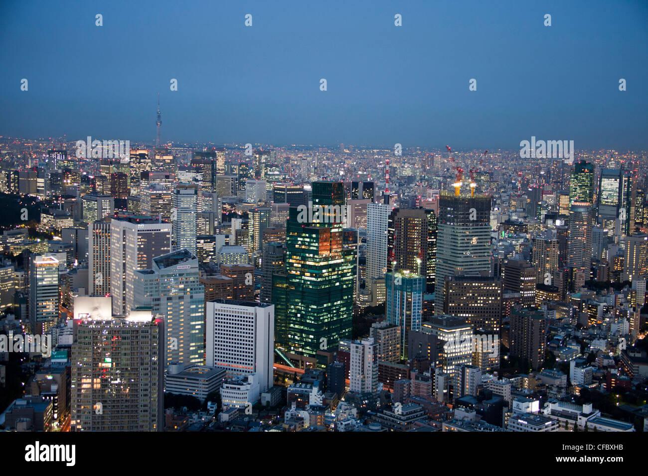 Giappone, Asia, Tokyo, città, centro di Tokyo Sky Tree Tower, architettura, grandi edifici, city e il centro Immagini Stock