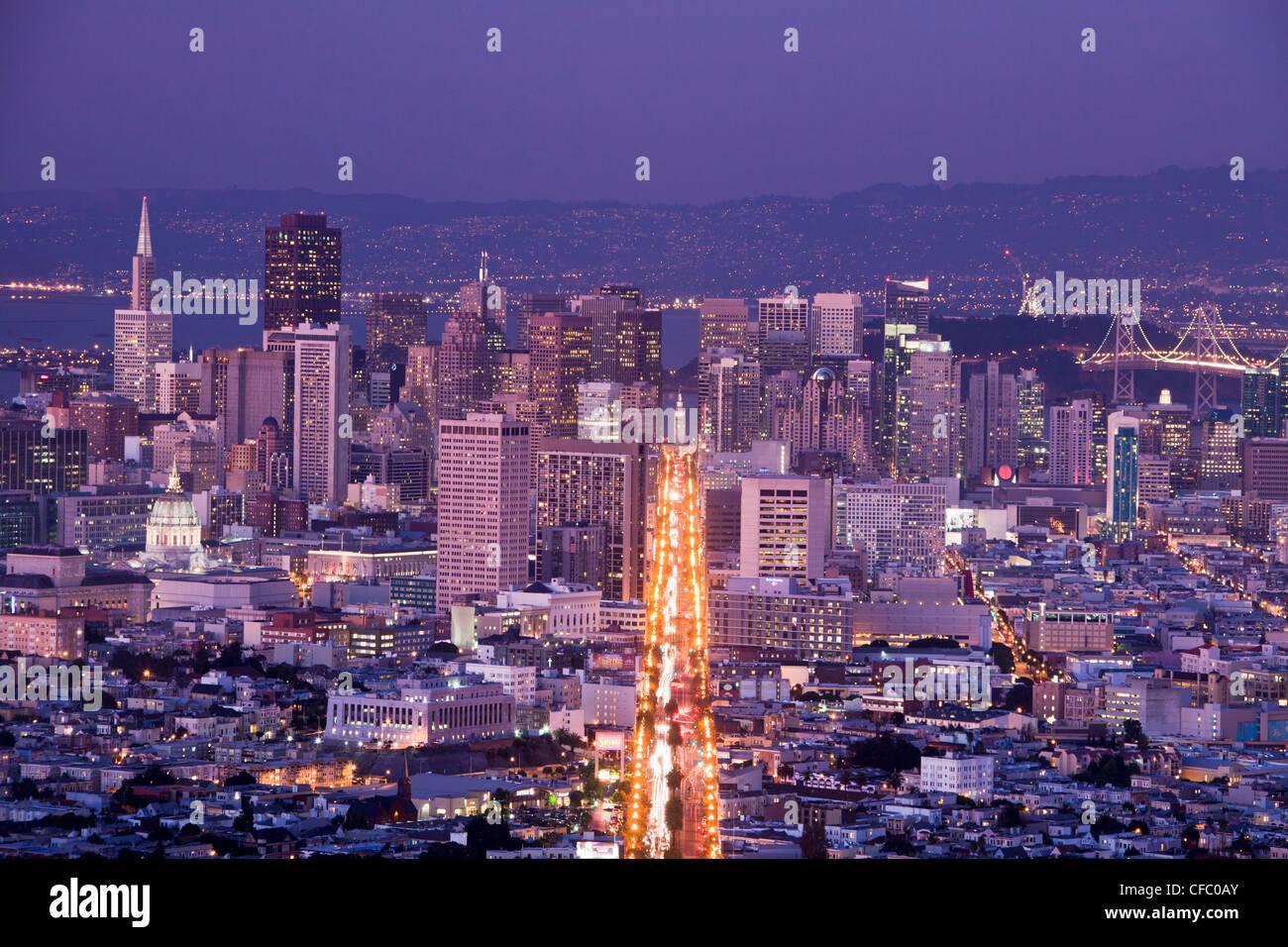 Stati Uniti d'America, Stati Uniti, America, California, San Francisco, città, Downtown, Market Street, architettura, Bay, il centro, la famosa, mark Foto Stock