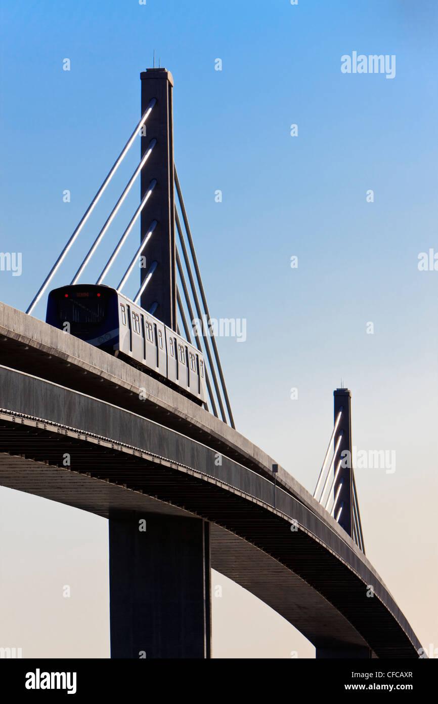 La luce CanadLine rapido collegamento di transito Immagini Stock