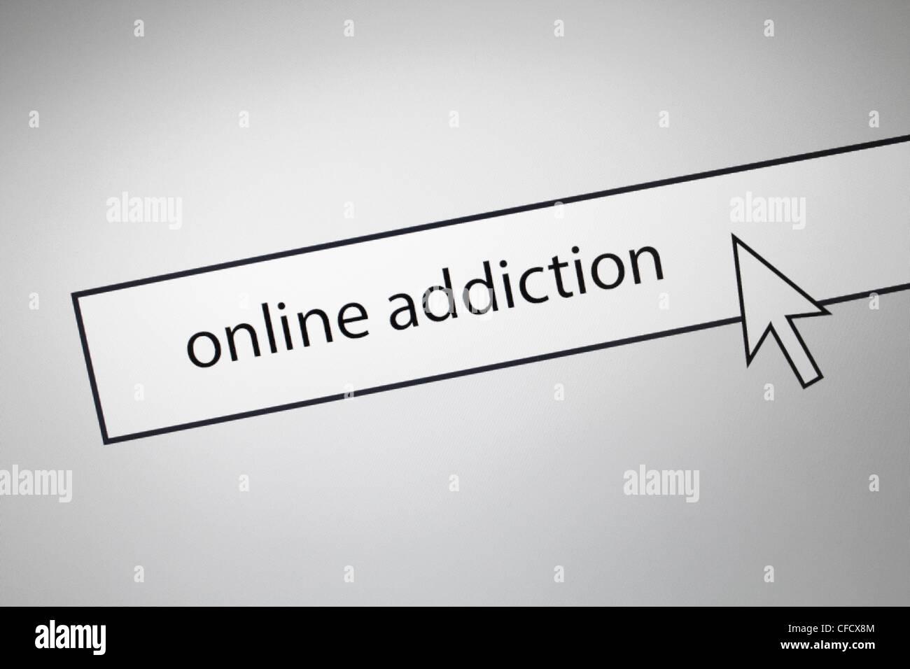 Dipendenza Online Immagini Stock