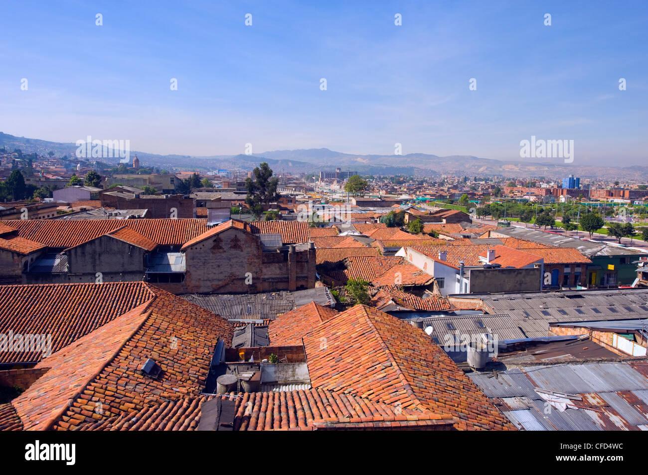 Tetto vista città, Bogotà, Colombia, Sud America Immagini Stock