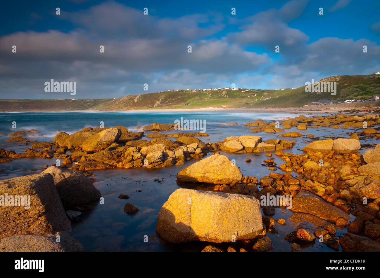Sennen Cove, Whitesand Bay, Cornwall, England, Regno Unito, Europa Immagini Stock