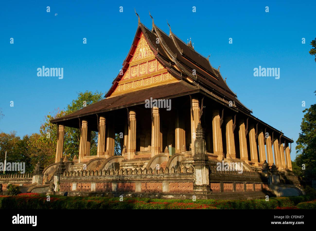 Haw Pha Kaeo tempio risalente al 1565, ora Museo Nazionale di Arte Religiosa, Vientiane, Laos, Indocina, Asia sud Immagini Stock