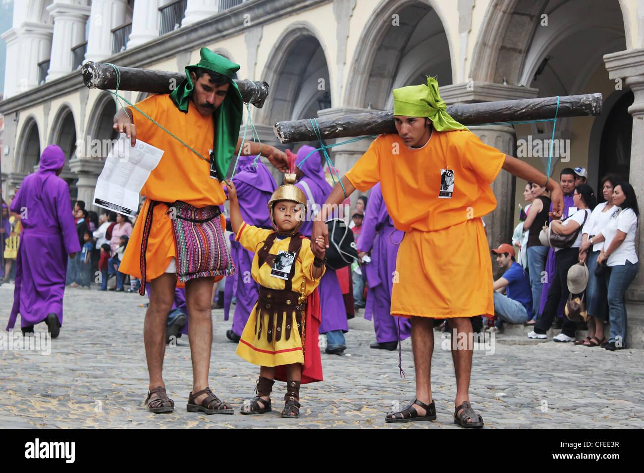 """Tradizioni in Guatemala per pasqua settimana santa"""" Immagini Stock"""
