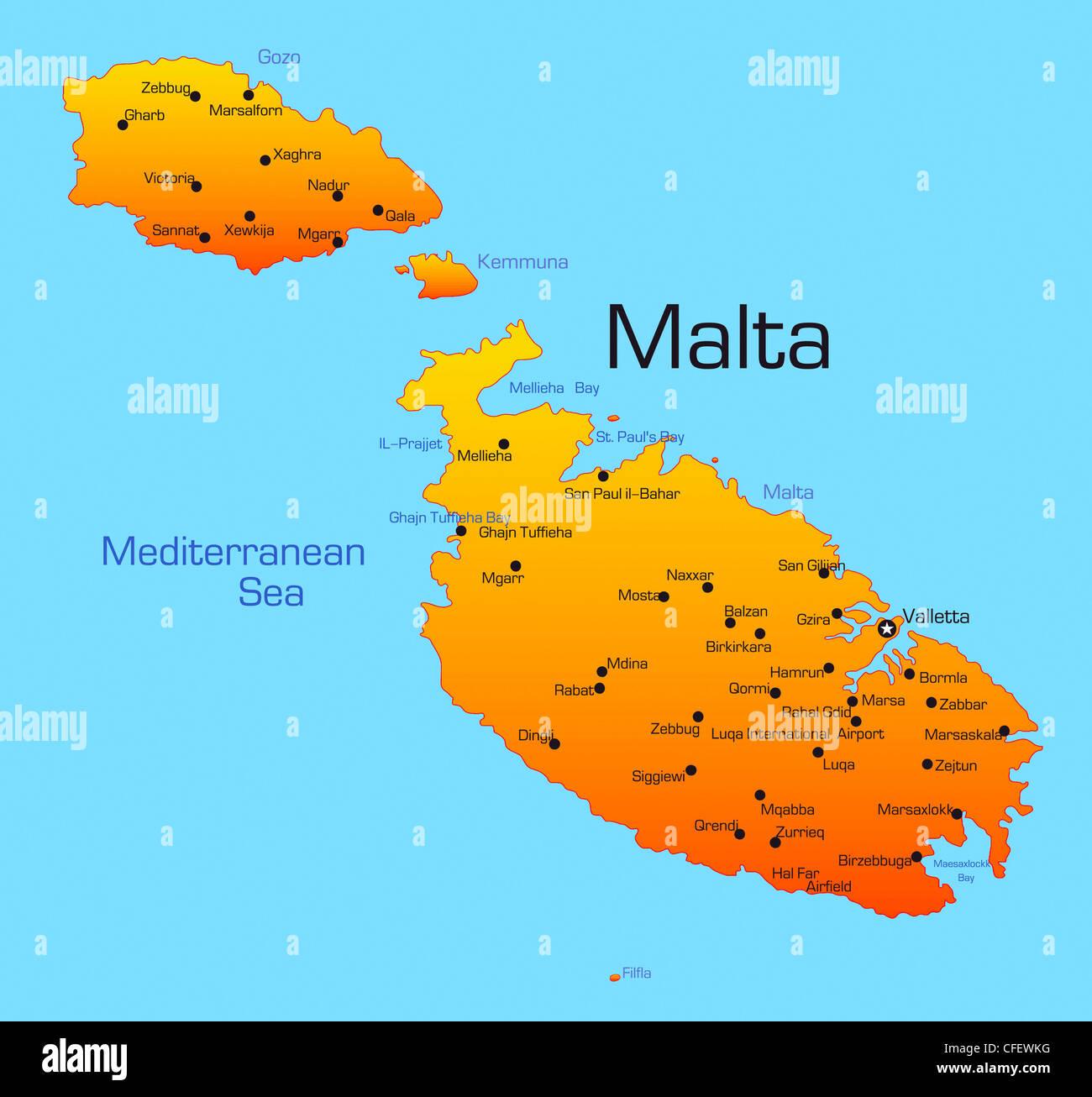Cartina Di Malta Dettagliata.Malta Map Immagini E Fotos Stock Pagina 4 Alamy