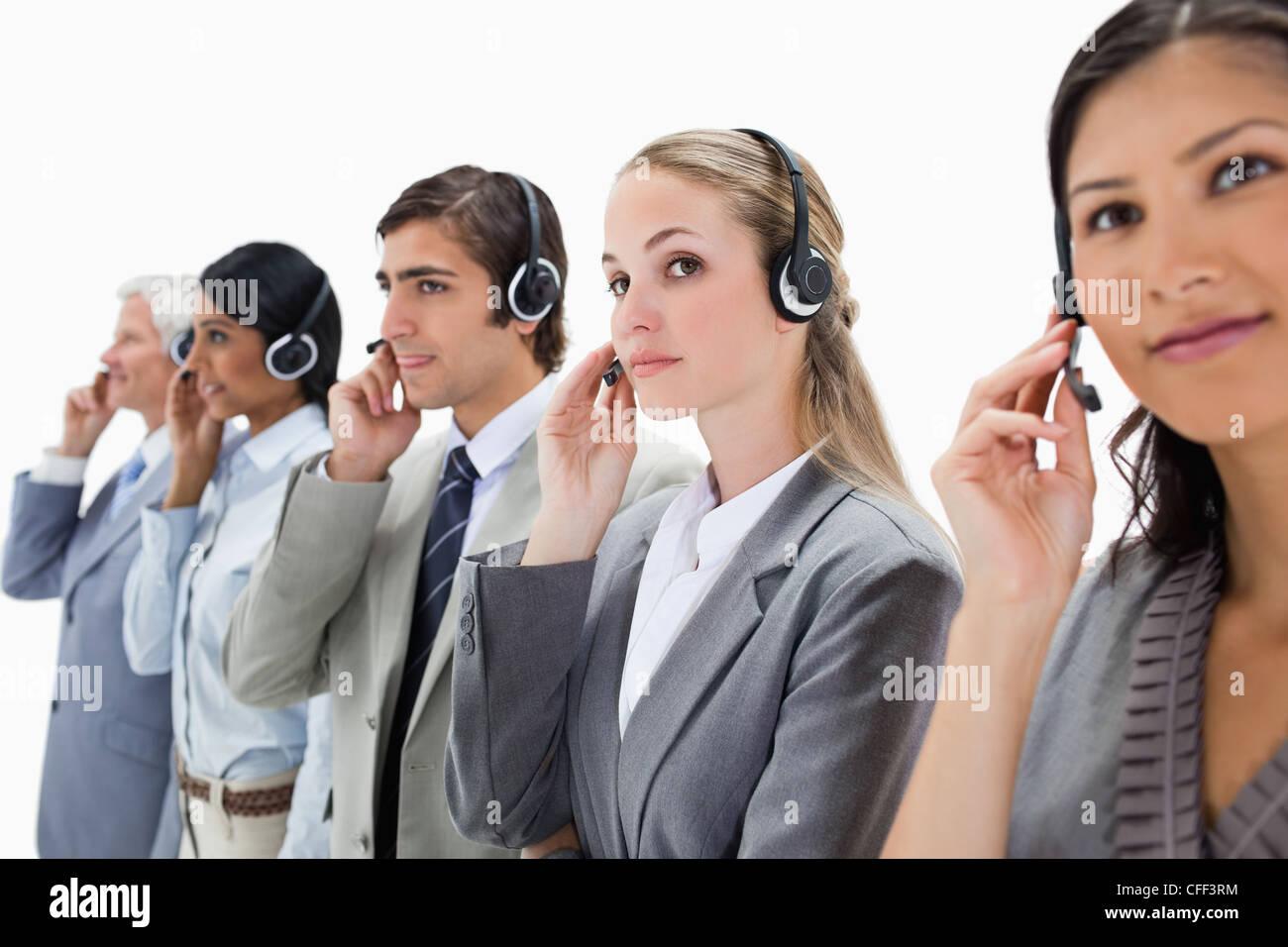 Professionisti ascoltando con attenzione Immagini Stock