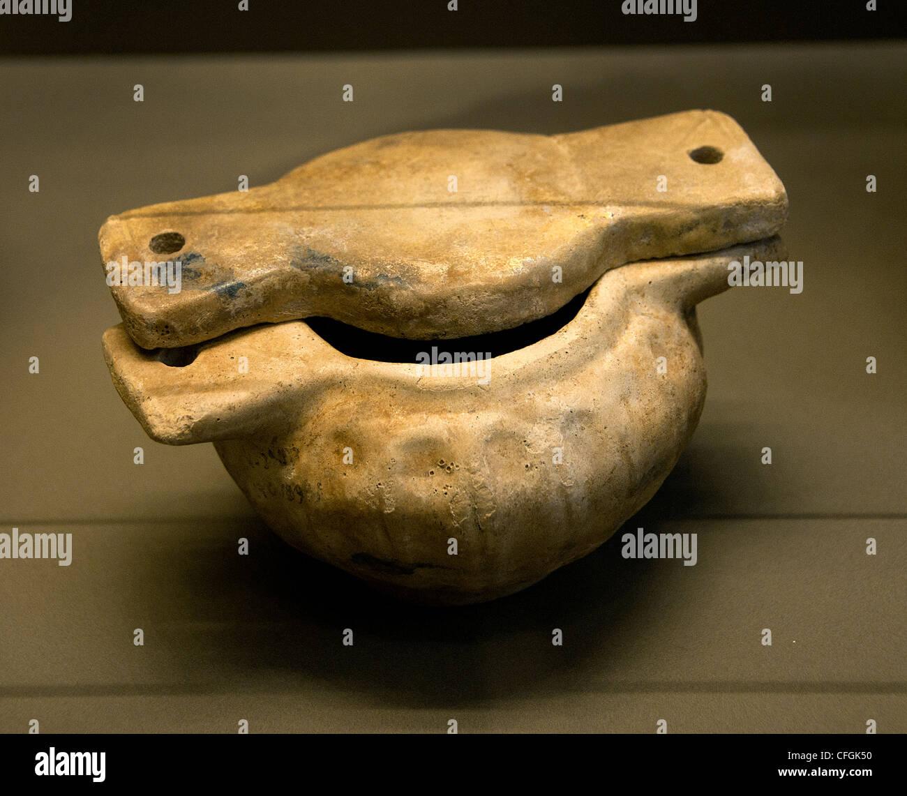 Ceramiche pyxides tombe mobili metà assiro 13 - 12 secolo A.C. Mesopotamia Immagini Stock
