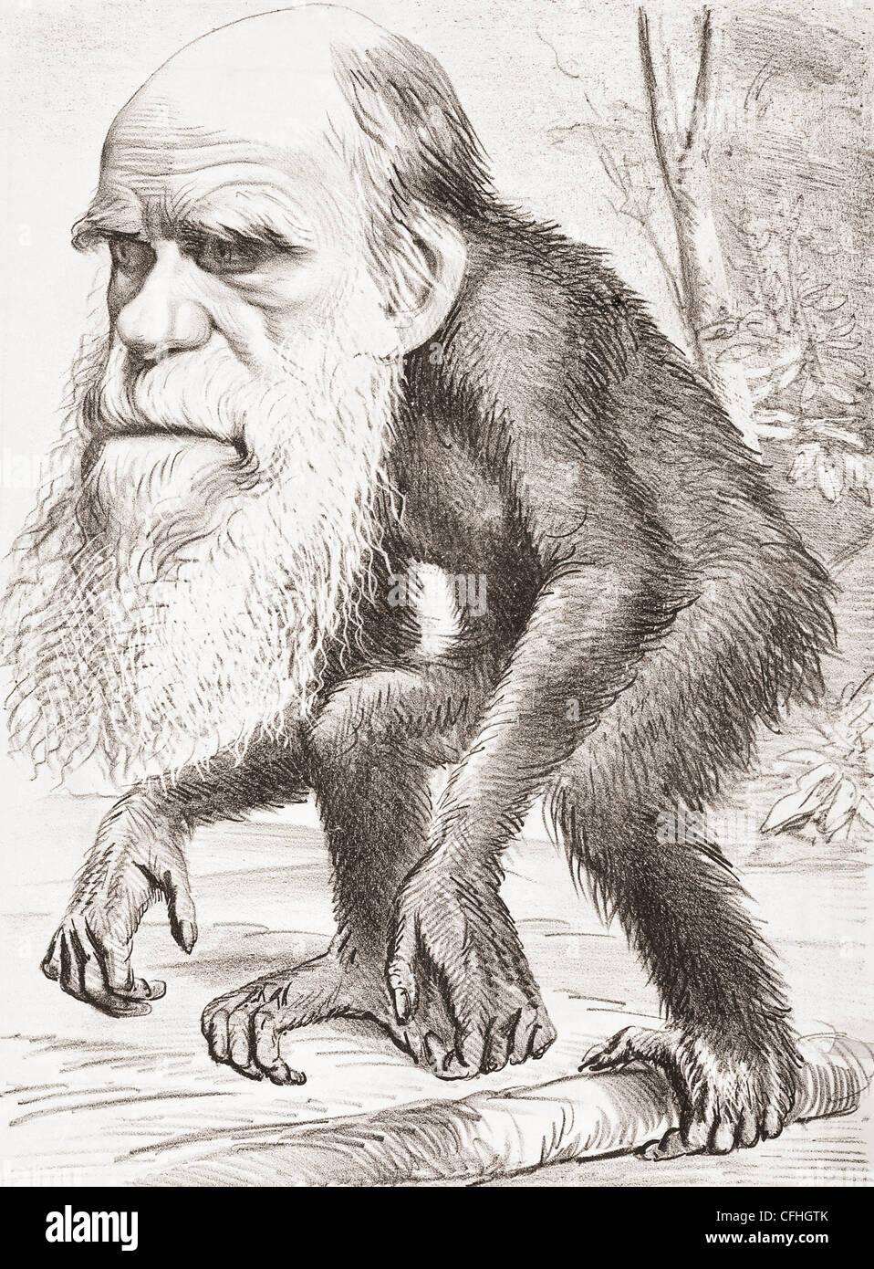 Charles darwin 1809 1882. naturalista inglese qui raffigurato come