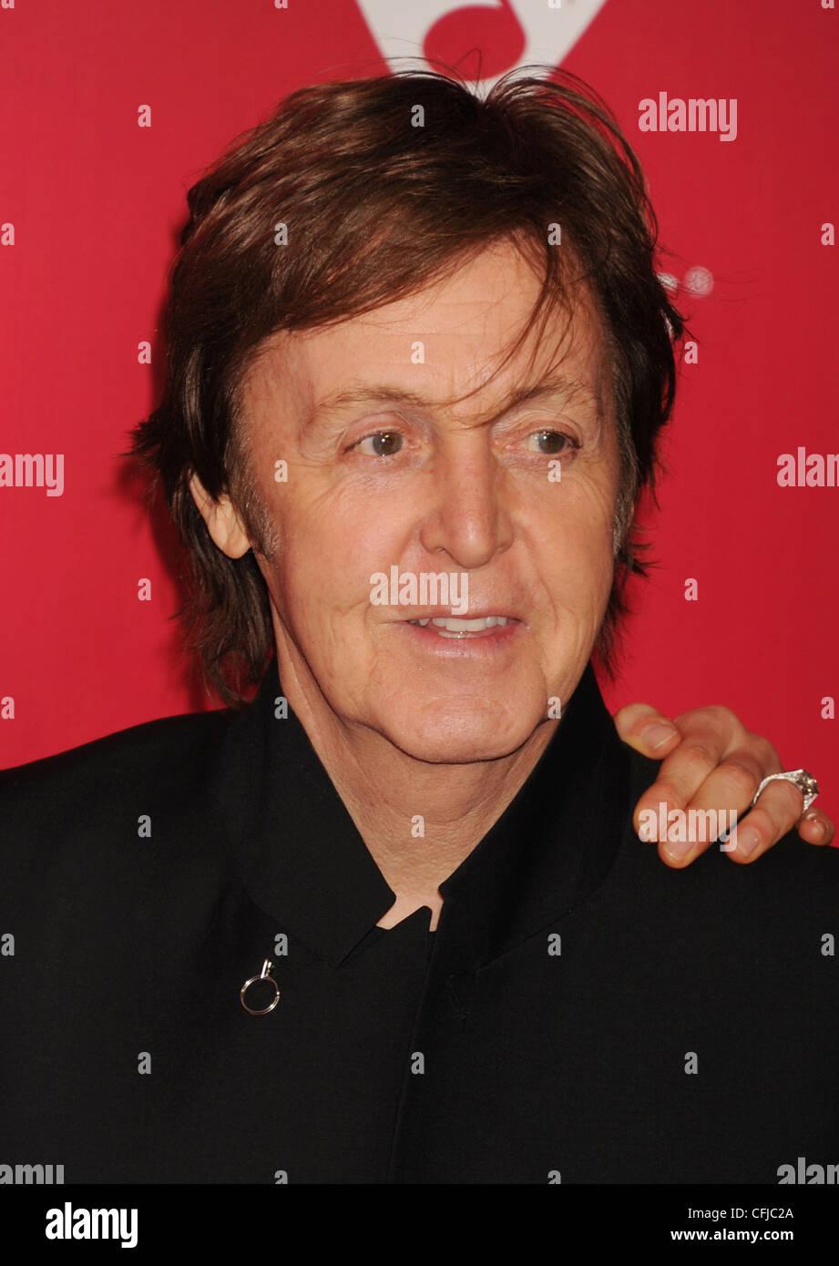 PAUL MCCARTNEY musicista del Regno Unito nel mese di febbraio 2012. Foto di Jeffrey Mayer Immagini Stock