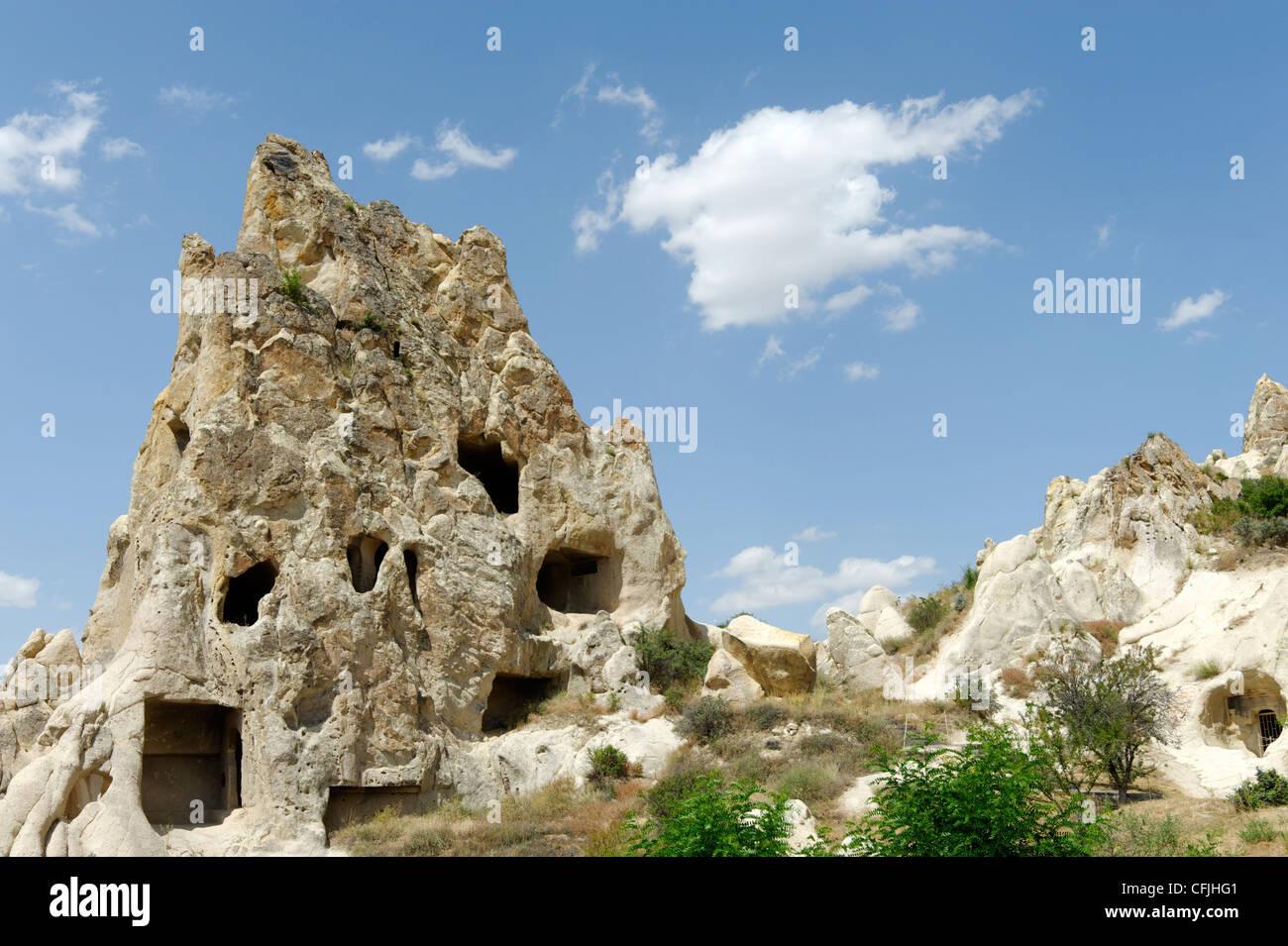 Cappadocia. La Turchia. Vista del monastero Kizlar a Goreme open air Museum in Cappadocia. Il museo è il microcosmo Immagini Stock